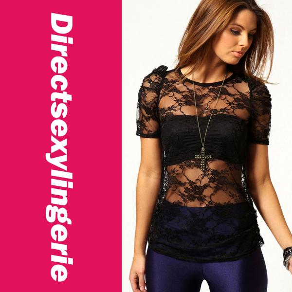 Sweatshirt 2015 Fashion New Women T-shirts Ladies' Sexy Kim Short Sleeves Floral Lace Top Drop Shipping LC25089 chiffon blouse(China (Mainland))