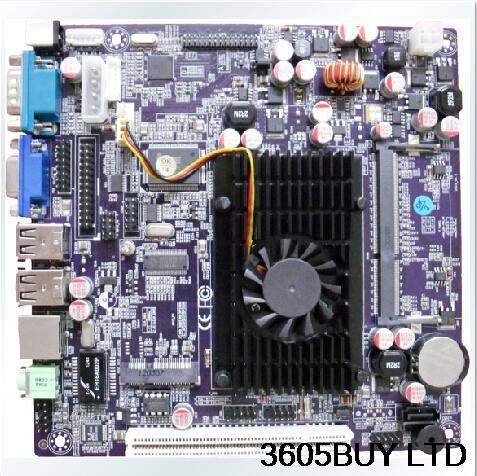 Ultrathin D525 1.8G dual core D/C 12V power supply to touch the machine / advertising / medical / embedded motherboard(China (Mainland))