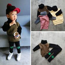 Дети свитера Мальчики Девочки Свитер блузки трикотажные пуловер теплый толстый верхняя одежда Мужская мода Детская Одежда(China (Mainland))