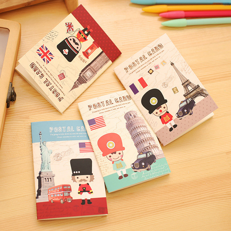 1pcs Europe retro building A6 Notebook Diary Book Exercise Composition Notepad Escolar Papelaria Gift Stationery(China (Mainland))