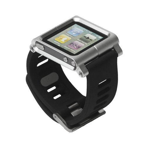 Aluminum Bracelet Watch Band Wrist Cover Case for iPod Nano 6 6th Gen 10 Colors Retail Package Free Shipping(China (Mainland))