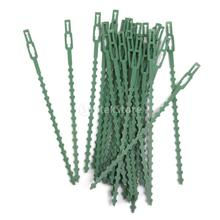New Arrivals 2015 30pcs 16.5cm Plastic Cable Ties Gardening Clips Plant Ties Green Free Shipping(China (Mainland))