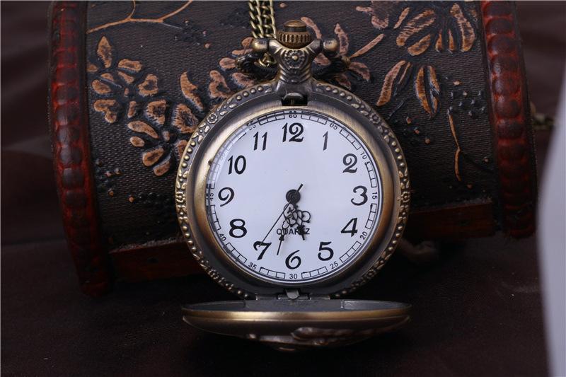 Pocket Brand Watches Women Men Fob Watch Fashion Train Pocket Watch HB010