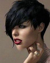 bjc 001576 New black Straight Wigs Short Hair Wigs Women's Fashion Wig +wigs cap