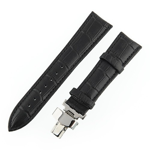 New!! Leather Watch Strap Band Cuff Butterfly deployment Clasp Buckle Wrap Free shipping(China (Mainland))