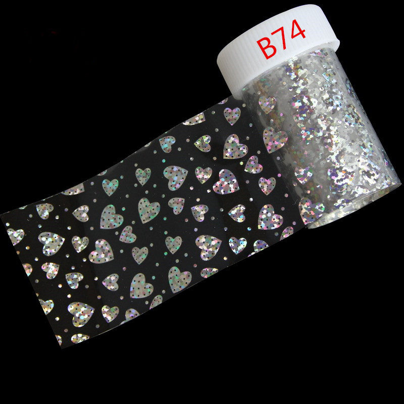 15 Styles Optional Nail Art Stickers Transparent Silver Transfer Nail Art Foils Craft Decorations Laser Nail Foil Beauty Tool