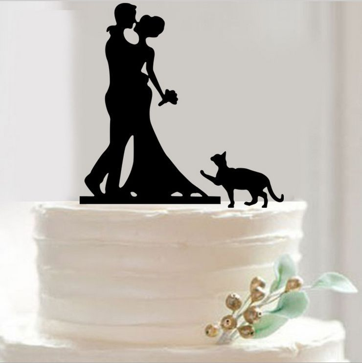 Cake Decor Group : Bride and Groom Cake Topper Acrylic Silhouette Wedding ...