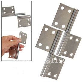 "Door Hardware Chrome Plated Metal 3.7"" Gates Flag Hinges 5 pair(China (Mainland))"
