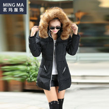 Manteau Femme Winter Jacket Women Coats Parka Jackets Female Ukraine Canada Long Woman 2015 Hooded Fur