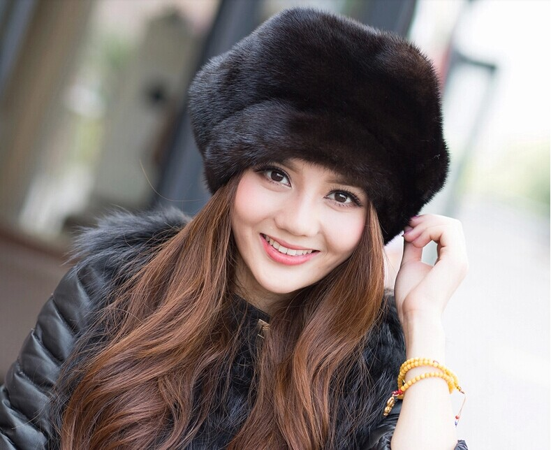 DL-10312 The new 2016 mink fur hat the whole skin middle-aged and old fashion winter cap women(China (Mainland))