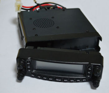 Free Shipping Dual Band Mobile Transceiver Cross Band with Built-in Fan and DTMF Microphone