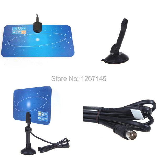 Good Quality Indoor TV Antenna Receiver,Digital Indoor TV Antenna HD TV HD VHF UHF Flat Design High Gain w2YI(China (Mainland))
