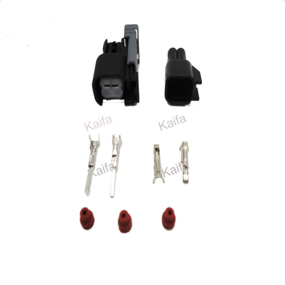 EV6 Male and Female Fuel Injector Plug Car Waterproof 2 Pin way Electrical Wire Connector Plug automobile Connectors(China (Mainland))