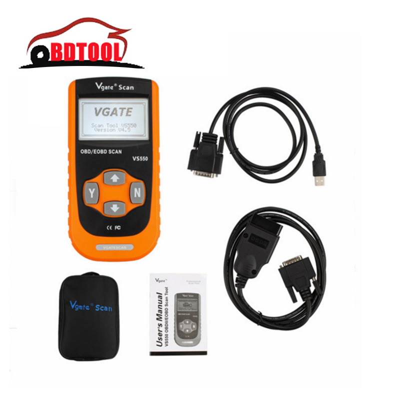 Lowest Price Vgate Maxiscan VS550 EOBD Scan Tool Auto Code Reader(China (Mainland))