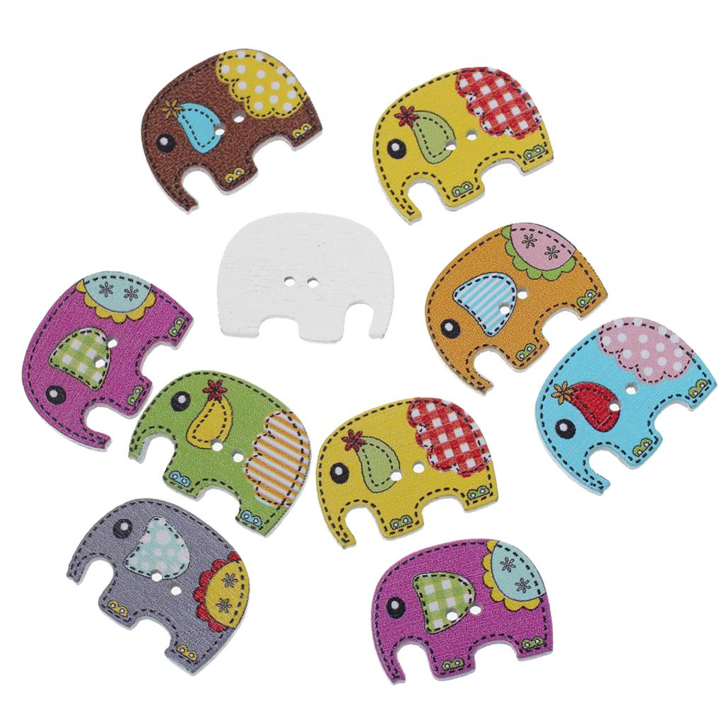 "Wood Sewing Button Scrapbooking Elephant At Random 2 Holes 25.0mm(1"")x 19.0mm( 6/8""),8 PCs 2015 new(China (Mainland))"