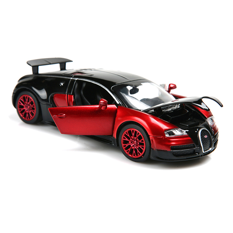 1:32 alloy car model car Bugatti Veyron metal casting Back car children's toys with light and music Free shipping(China (Mainland))