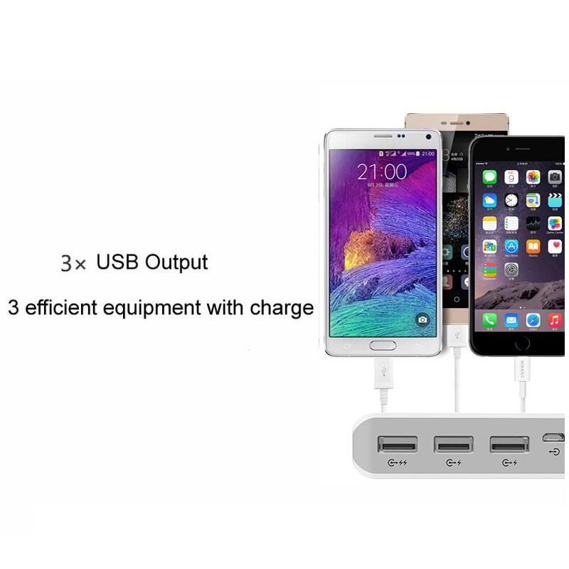 Original ROMOSS Power Bank 25000mAh Sense 9 External Battery 5V 3 USB Output Li-polymer for iPhone7 Xiaomi Huawei Samsung Meizu
