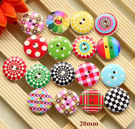 20mm Candy colors wooden button for garment,cartoon wood buttons for children,sewing accessories,scrapbooking button(ss-799)(China (Mainland))