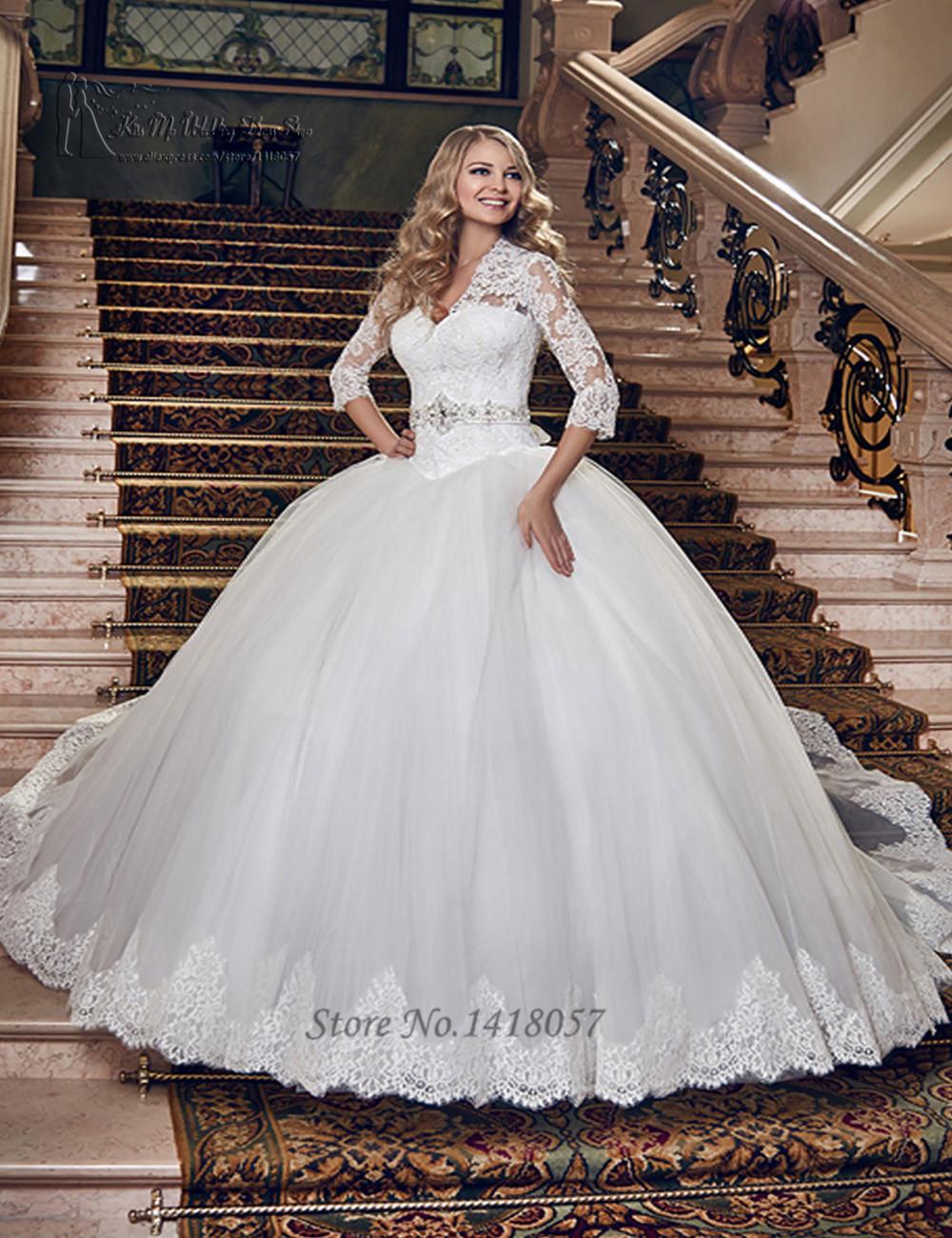 Popular Modest Ball Gown Wedding Dresses Buy Cheap Modest Ball