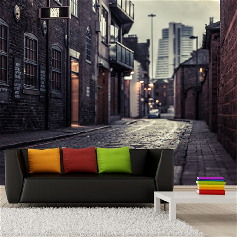 papel de parede 3D Europe's streets Mural wallpaper City buildings full Wall Murals print decals Home Decor photo wallpaper