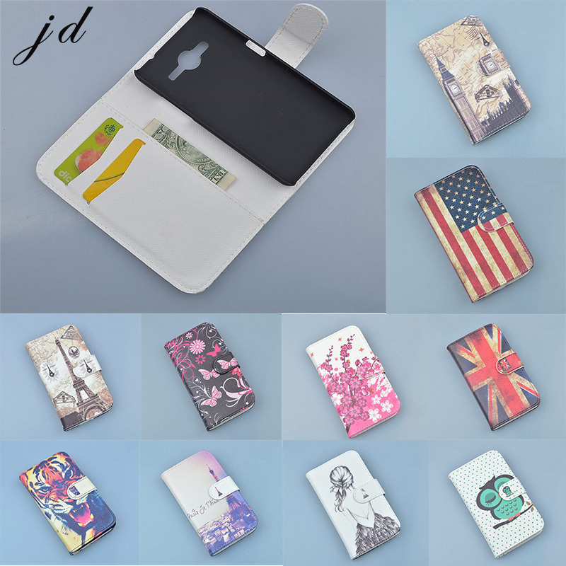 PU Leather Case Cover For Samsung Galaxy Core 2 Duos SM G355H G355 G3559 Cell Phone