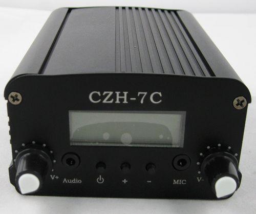 7W CZH-7C FM stereo PLL broadcast transmitter 76MHz-108MHz + GP100 Antenna + Powersupply Kit cover 1KM-2.5KM(China (Mainland))
