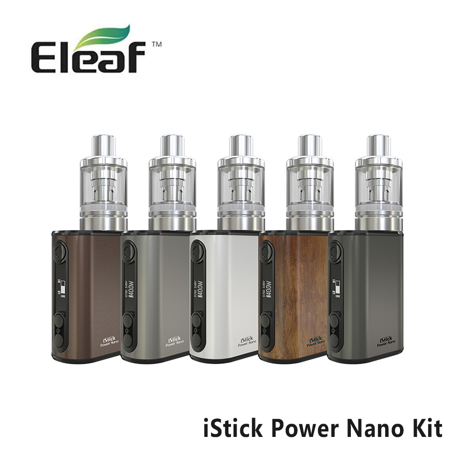 Original Eleaf iStick Power Nano Kit Electronic Cigatetter 40W MELO 3 Nano Atomizer 1100mAH Battery EC ECML Head Vape E-cig