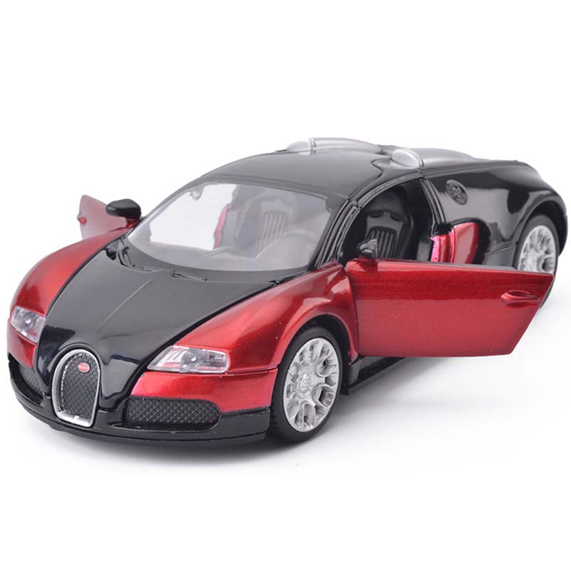 1:32 Scale Bugatti Veyron Alloy Diecast Car Model Pull Back Toy Cars Electronic Car with light & sound Kids Toys Gifts New P45(China (Mainland))