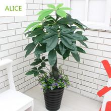 Ресторан украшен искусственные растения гостиной пол цветочный дисплей поддельные дерево бонсай горшок 90 см