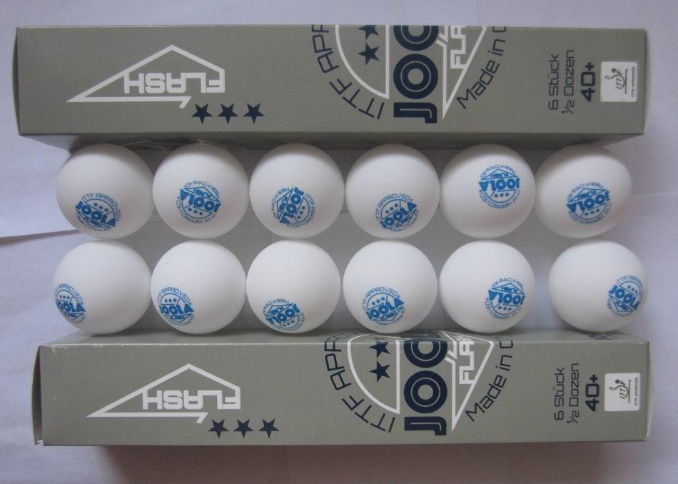 Original 12 Balls/lot JOOLA 3Star Plastic Table Tennis Balls Seamless 40+ New Material White Ping Pong Balls ITTF Approved(China (Mainland))