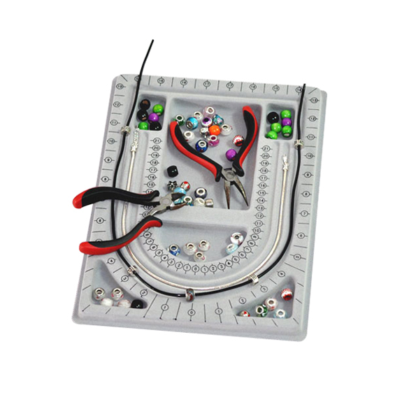 Free shipping Bead Board String Beading Jewellery Design Organiser Tray Craft Tool S LG5D(China (Mainland))