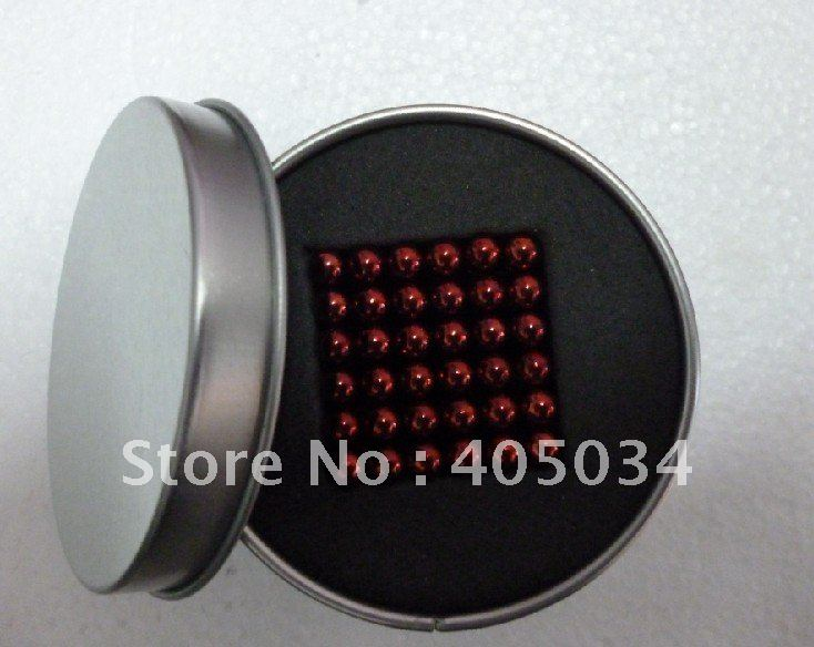 Free shipping 5mm Red Neocube Buckyballs Magic cubes toys Retail Sale!!!(China (Mainland))