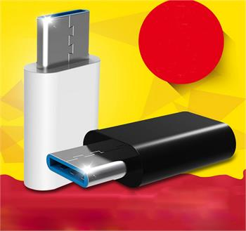 USB-C to Micro USB Adapter, Converts USB Type-C input to Micro USB, Uses 56K Resistor, for MacBook, ChromeBook Pixel and More