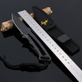 high quality 7inch outdoor camping Letter small Straight knife blade material 3cr13mov hardness 53HRC survival self