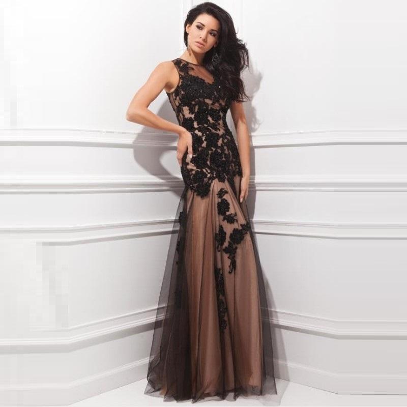Вечернее платье шоколадного цвета