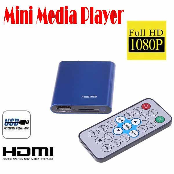 by dhl or ems 20 pieces Mini Media Player Mini 1080P HDMI SD/USB HD Media Player MKV/RM/RMVB free shipping Wholesale(China (Mainland))
