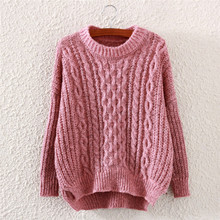 Free Shipping 2015 hot sale New knitted pullover ladies sweater mohair Hemp flowers thick coat