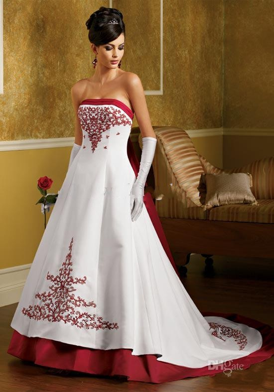 High Quality Wedding Dress Red and White-Buy Cheap Wedding Dress ...