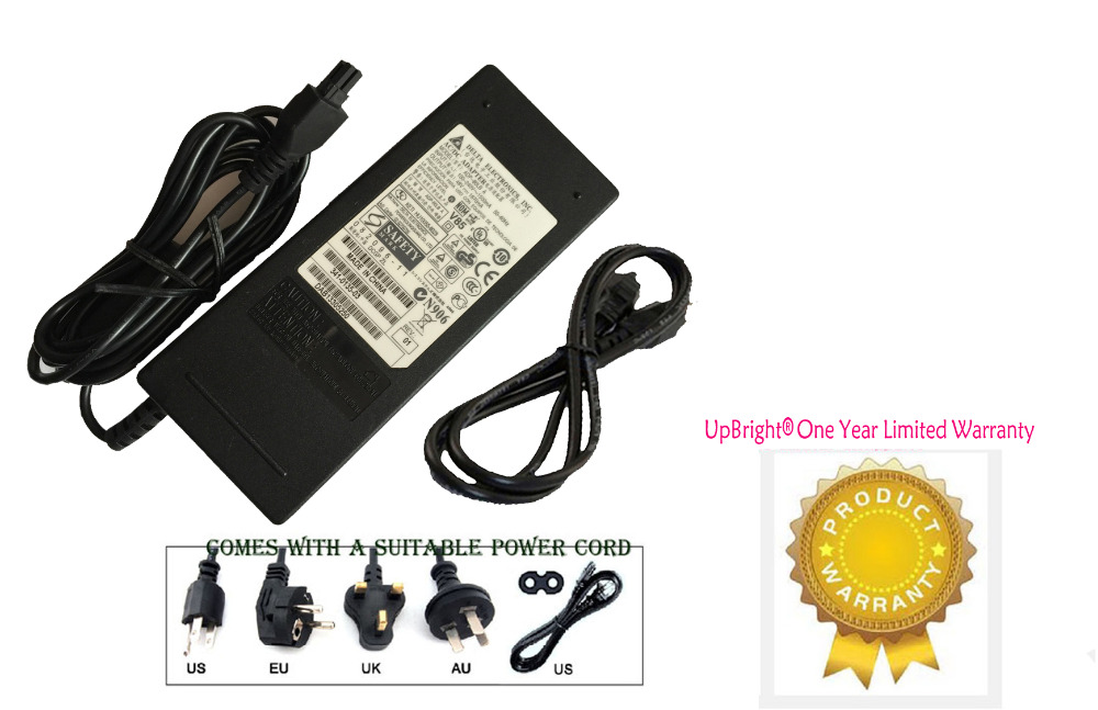 UpBright NEW Genuine 2-Prong AC / DC Adapter For Delta ADP-80LB 48V 1.67A Power Supply Cord Cable PS Charger Mains PSU(China (Mainland))