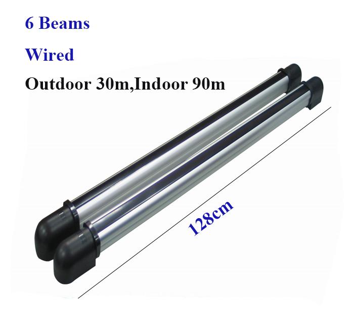 (Outdoor 30m,Indoor 90m) 128cm indoor infrared barrier detector/sensor for window/door active burglar alarm(China (Mainland))