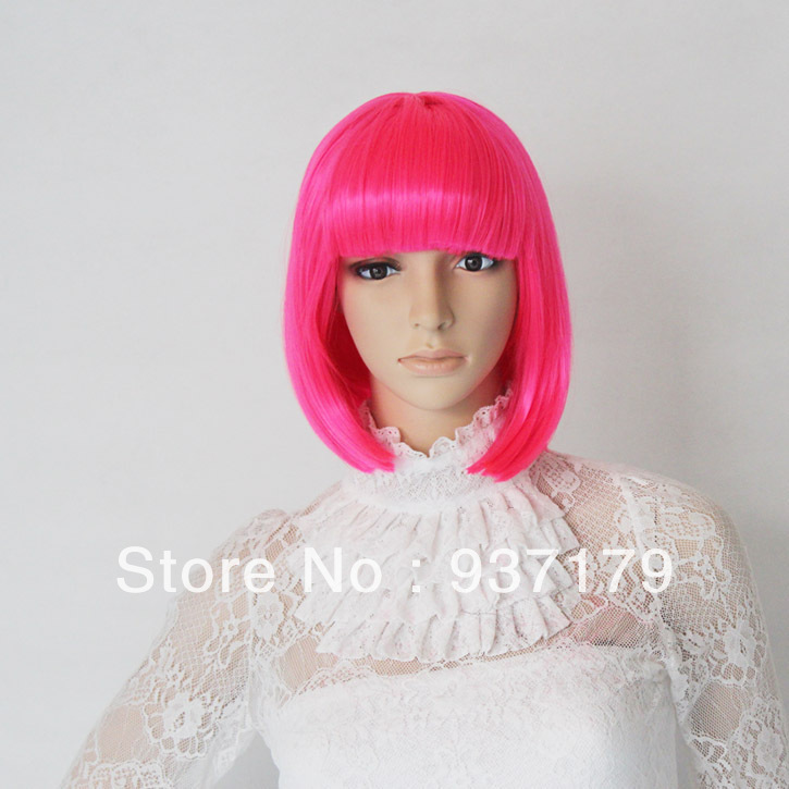 Q-Style Short Colorful Hair,Good Modelling for Cartoon Party or Cosplay Bobo Head Wigs(China (Mainland))