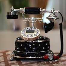 High end European fashion creative landline telephone landline retro villa model room Decoration housewarming gift