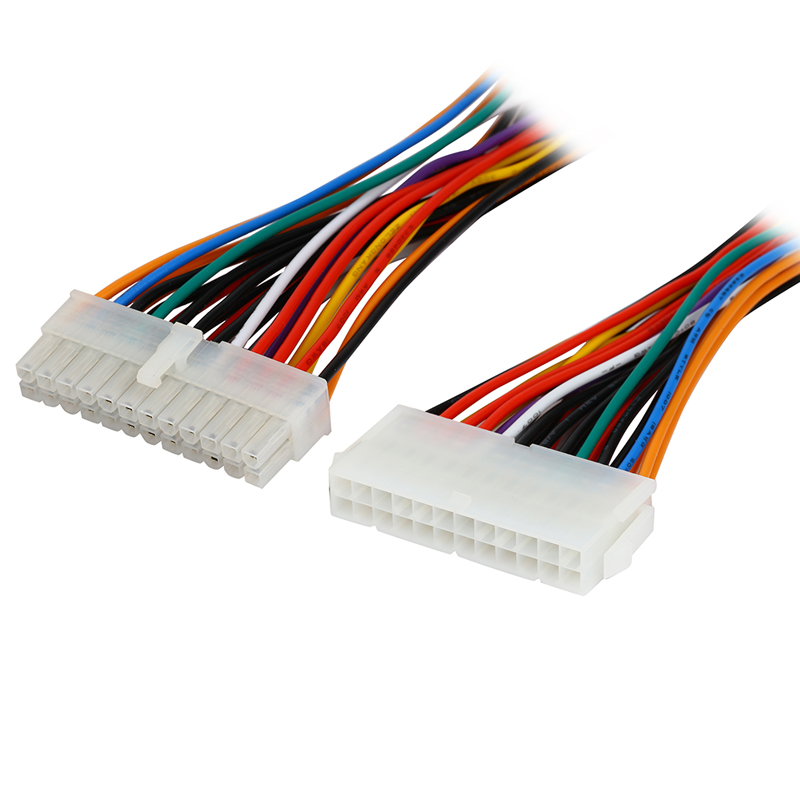 8 inch Computer Molex 24 Pin Motherboard to ATX EPS PSU Power Supply Extension Cable,24-pins Internal Power Cord,Male to Female(China (Mainland))