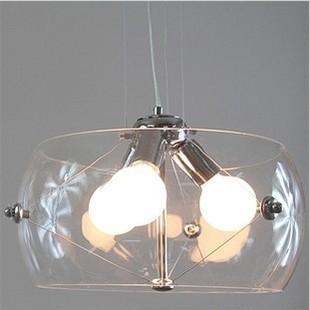 Modern fashion drum clear glass pendant light fish aquarium restaurant lamp living room lights E27*3 AC110V/220V D40cm(China (Mainland))