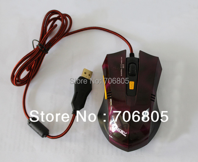 2014 High Performance 6D Optical Gaming Mouse Max 1800DPI  6 buttons USB Wired Mice for Computer PC Laptop