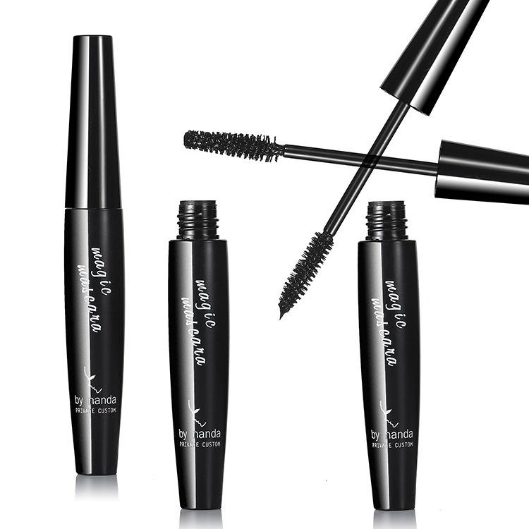 Brand makeup cosmetics black mascara,slender, thick curly, waterproof,long-lasting,12 pcs/lot(China (Mainland))