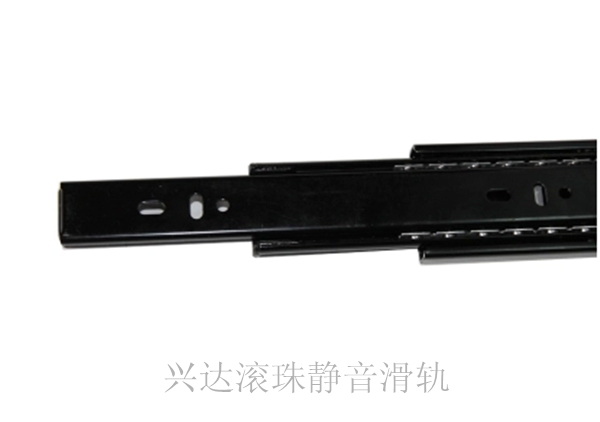 Drawer slide rail drawer track three rail slide cabinet drawer slide ball bearing silent(China (Mainland))