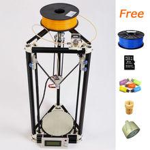 High quality 3D Printer Rostock Mini 3D Printer DIY Kit ABS PLA filament printer
