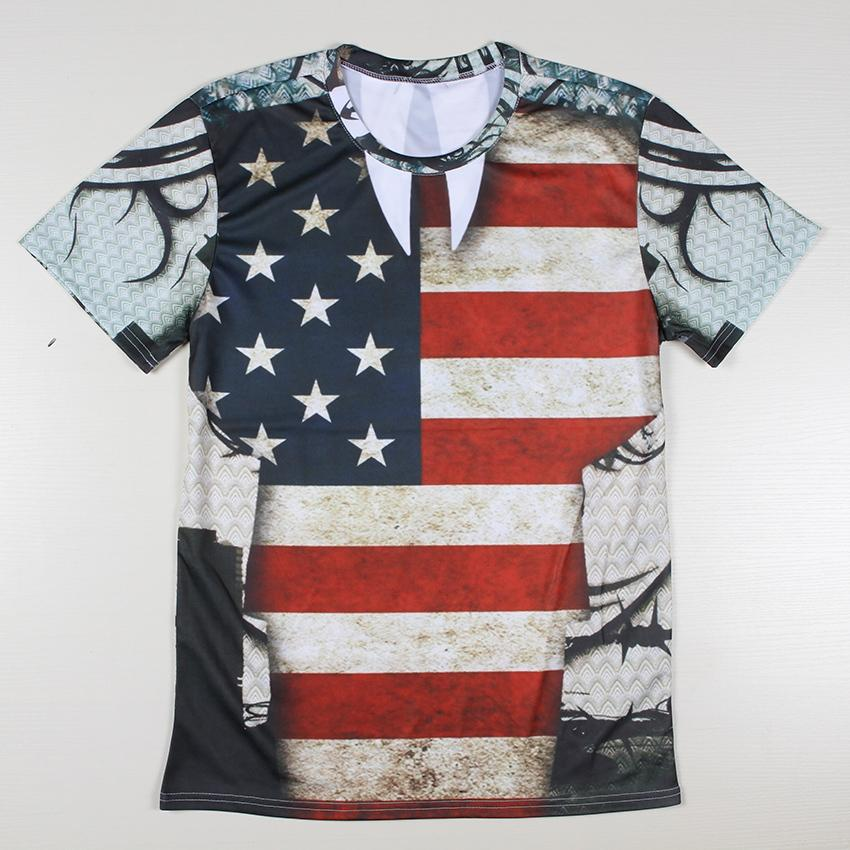 Popular american flag t shirt men buy cheap american flag for Quality shirts for printing
