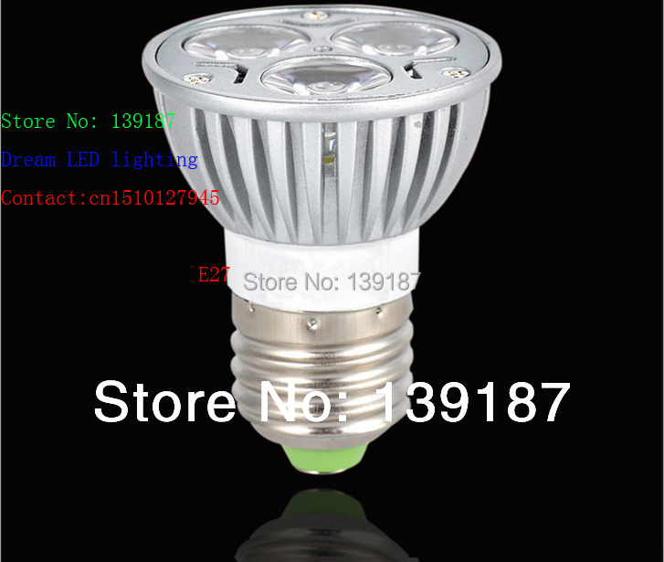 Free shipping/ LED shoot the light cup CFL lamp manufacturers selling made in China 3w E27100v~220v(China (Mainland))